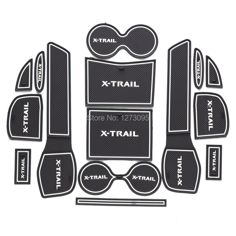 Per 2014 2015 2016 2017 Nissan X-Trail X Trail T32 Nuovo Cancello Slot di Pad antiscivolo Tazza Mats Anti Slip Porta Scanalatura Mat Accessori Auto