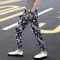 Men's Casual Camo Pants Summer Thin Jogger Pants Men Slim Fit Sweatpants Pants Male Street Wear Camouflage Trousers