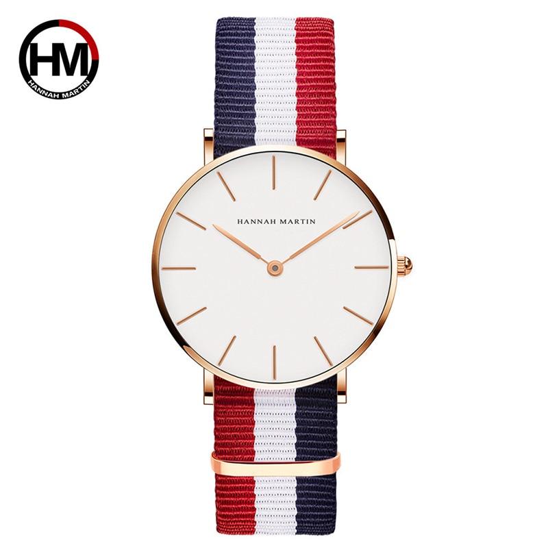 HMCB36 Simple Casual White Wristwatch Women Watches Top Brand Luxury Waterproof Quartz Watch Lady Clock Wrist Watch Dropshipping