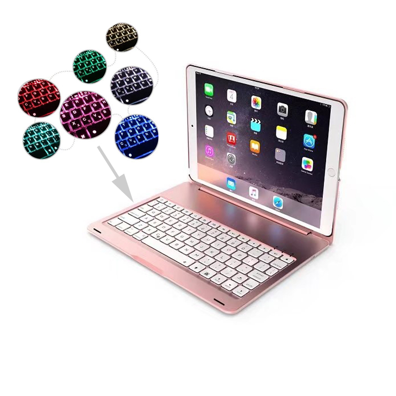 7 Colors Backlit Light Wireless Bluetooth Keyboard for Apple iPad Pro 10.5 Smart Case Cover for iPad pro 10.5 2017 A1701 A1709 tablet cover for ipad pro 10 5 inch detachable bluetooth keyboard case for 2017 ipad 10 5 a1701 a1709 stand cases