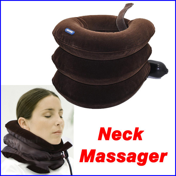 Neck Massager Nap Pillow Traction Massage Pillow Relief Neck Back Shoulder Pain Cervical Vertebra Tractor Free shipping