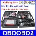 Multidiag Pro + Herramienta de Diagnóstico profesional V2014.3 + Bluetooth + 4 GB TF tarjeta + Cables Del Coche Completo Plus TCS CDP Pro + DHL Libre