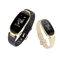 Luxury Girl Women S3 Bluetooth SmartBand Heart Rate Sport Wristband Smart Band Bracelet Wristband For Lady