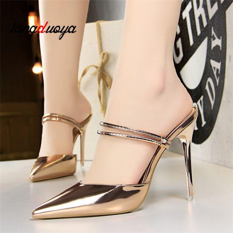 2018 Zapatos de Tacón Sandalias de Las Mujeres Zapatos de Verano - Zapatos de mujer - foto 4