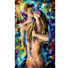 Hand Painted Abstract Desire Figure Nude Knife Modern Art Oil Painting Canvas Art Wall Living Room Fine hallway Artwork Fine Art