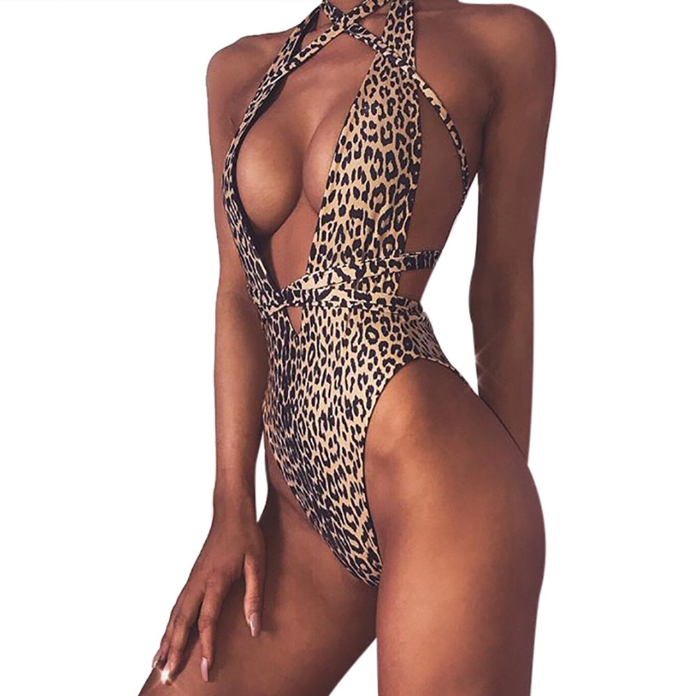 Exotic Apparel Selfless Klv Sexy Leopard One Piece Swim Suit Off Shoulder 2019 High Cut Swimwear Women Monokini Padded Bathing Suit New Body Suit 4.1a