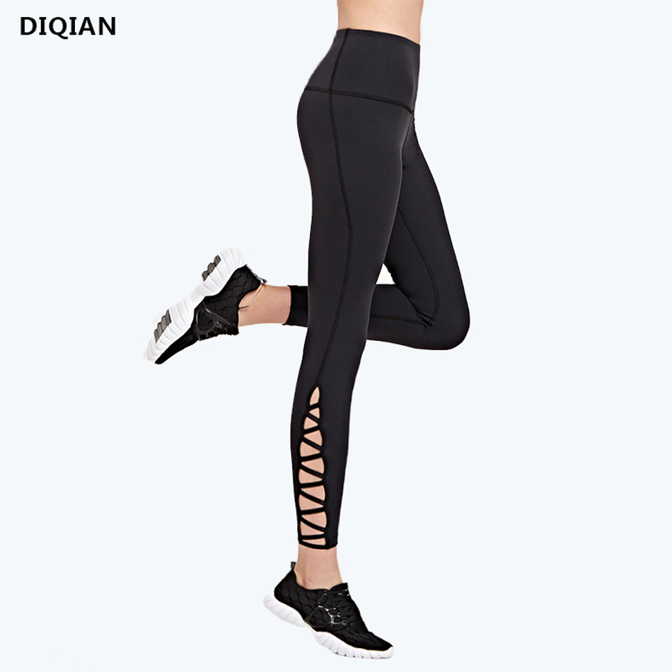 Black Cross Straps Yoga Leggings Women Sports Pants Fitness Gym Capri Pants Running Tights Compression Skinny Leggings 3 colors