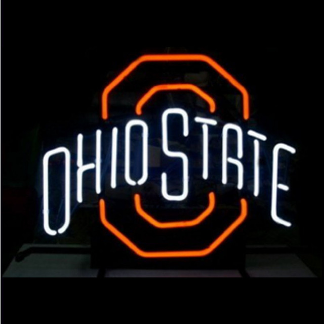 US $390 0 |Ohio State Neon Sign Lamp Fairy lights real Block Neon sign Lamp  Neon Sign Beer Bar Pub Arts Craft custom LOGO Sign 24x20-in Neon Bulbs &