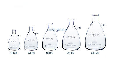 5000ML Vacuum Filter Flask with Side Nozzle Adapter G3.3 Glass Filtration Device цена