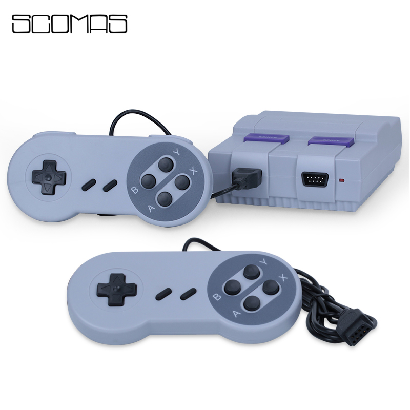 SCOMAS Super Mini 8 Bits TV Games Handheld Consoles Built-in 400 Games Console De Jeux Portable Retro Classic Gaming Player