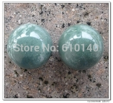 Natural jade health handball ball fitness ball handball one pair of Lushan green gifts