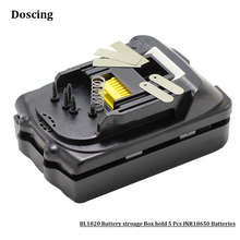 BL1815 PCB Circuit Board BMS +Li-Ion Power Tools Battery Case Replacement For Makita 18V BL1830 BL1820 LXT400 Plastic Shell cheap Battery Storage Box Doscing BL1815 BL1820 5Pcs Black