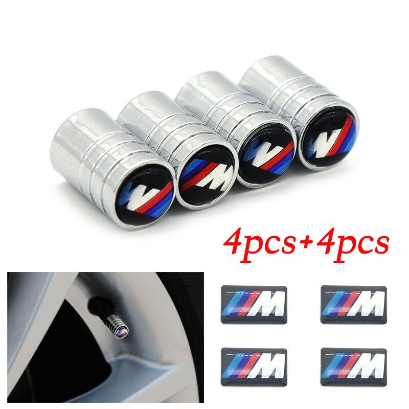 4Pcs+4Pcs Car-styling Wheel Air Cover Tight Rims For BMW E46 E39 E90 E60 E36 F30 F10 E34 X5 E53 E30 F20 E92 E87 M3 M4 M5 X5 X6