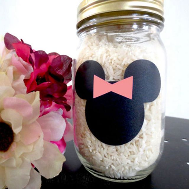 Minnie Mouse Party Accessories Chalkboard Vinyl Labels Child Kid Girl Birthday Favor ,12pcs/lot Minnie Mouse Decorative Stickers