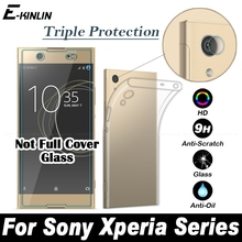TPU Soft Case Cover Back Camera Lens Tempered Glass Protector Film For Sony Xperia XZS XZ Premium XA1 XZ1 Compact Plus Ultra L1
