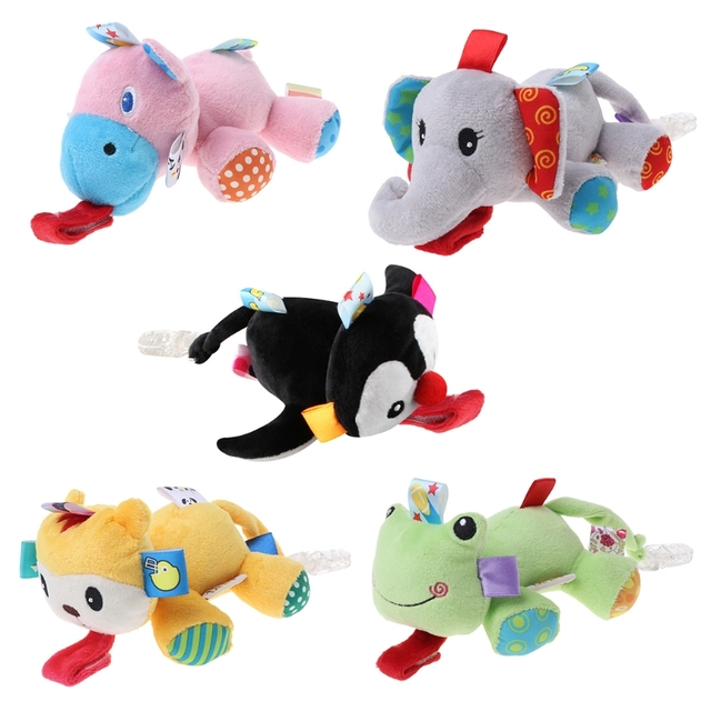 Baby Nipple Toys Pacifier Lovely Stuffed Animals Hang Clips Feeding