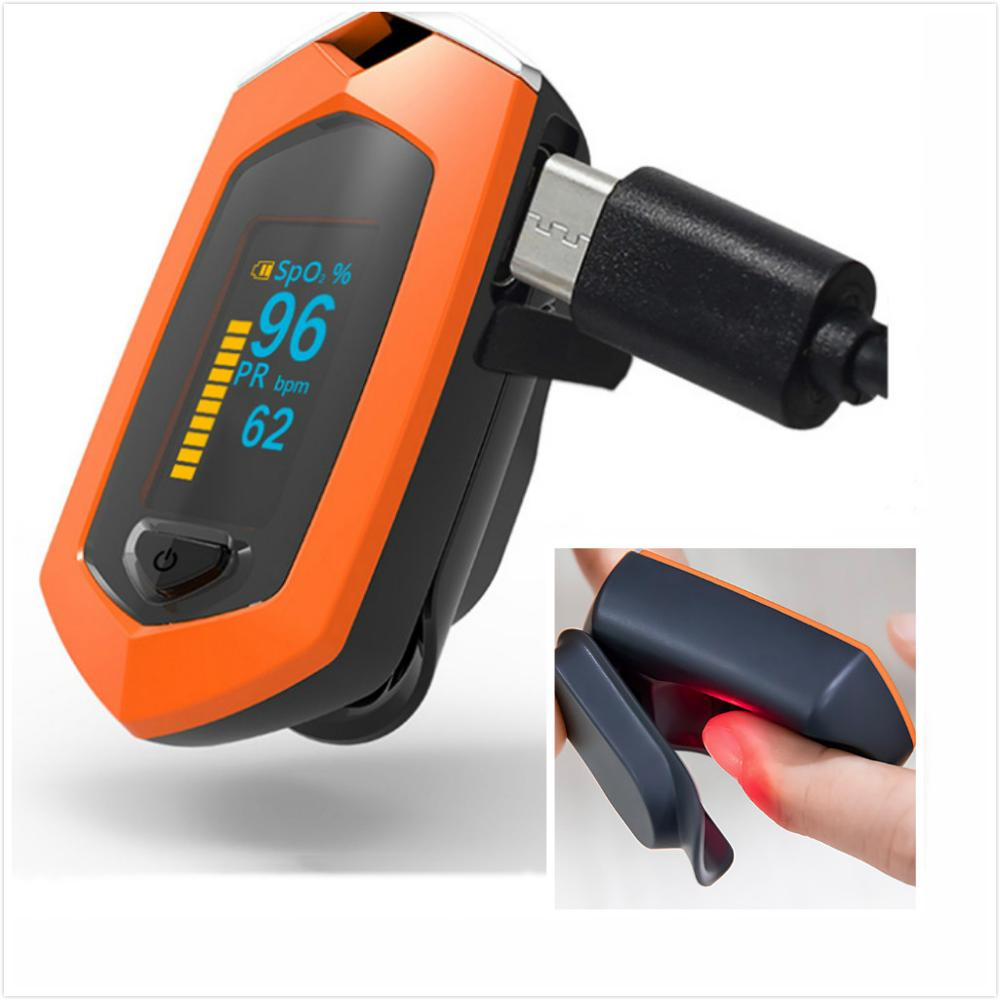 Fingertip Pulse Oximeter Carrying Case and Lithium Battery for SpO2 and Pulse Rate Measurement