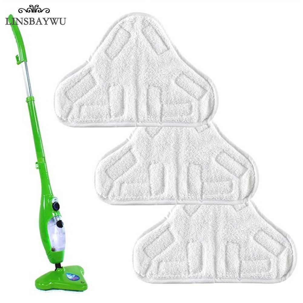 LINSBAYWU Reusable Cloth Washable Microfiber Replacement Pads Fit H2O X5 Mop Cleaning Tool