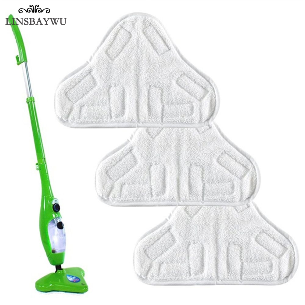 LINSBAYWU Reusable Cloth Washable Microfiber Replacement Pads Fit H2O X5 Mop Cleaning Tool(China)