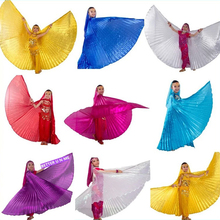 New Arrival polyester Kids belly dance Isis Wings Children belly dancing Wings 8 colors, free shipping !