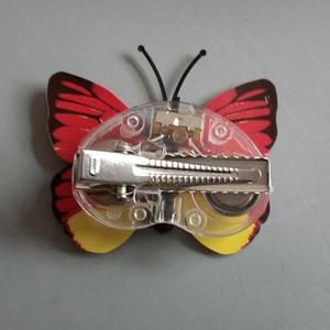 Image 4 - 女の子女性 led 点滅蝶のヘアピングローイングヘアクリップヘッドドレス誕生日パーティーホームクリスマスウエディングデコレーション