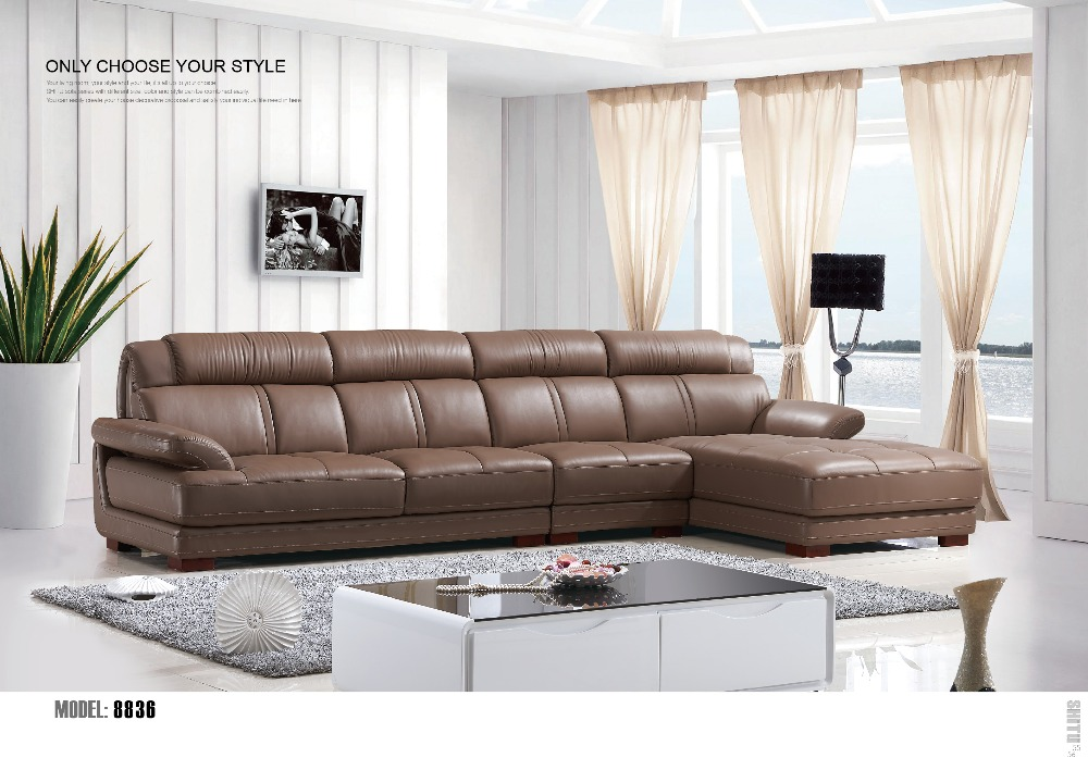 European Royal Style Solid Wood Real Cow Leather Sofa Clic Design Alibaba China Set In Living Room Sofas From Furniture On Aliexpress