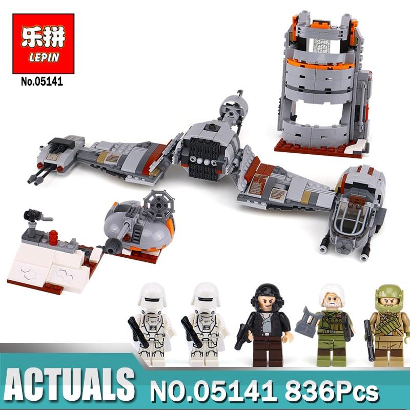 836Pcs Star Wars Defense Aircraft Model Building Block Toys LEPIN 05141 Figure Gift For Children Compatible Legoing 75202 lepin 05037 star wars ucs slave i slave no 1 model 2067pcs minifigure building block toys 100