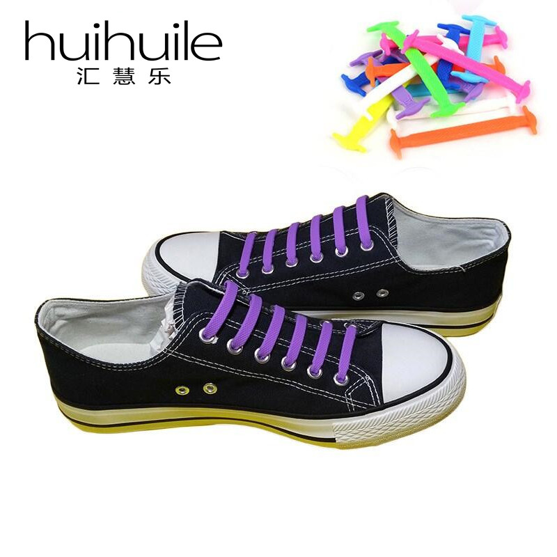 16Pcs/Set Summer Hot Sale 13 Color Shoelaces Shoes Accessory No Tie Silicone Shoelaces For Sneaker And Boots Free Shipping