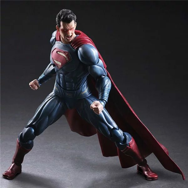 Play Arts Kai Figure Super Man Figure DC Figure Superman Clark Kent Batman SuperGIRL PA 25cm PVC Action Figure Doll Toys Gift diweini superman play arts kai action figure supergirl super woman collectible model toy pvc anime super man supergirl playarts