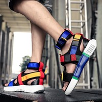Fashion Sandals Men Shoes New Summer Super High Quality Male Casual Shoes Wedge Chunky Comfortable Gladiator High Top Sandal