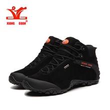 Xiangguan 2017 hombre high top botas de marca zapatos para caminar al aire libre senderismo zapatillas de trekking de cuero natural, zapatos de montaña tamaño 39-48