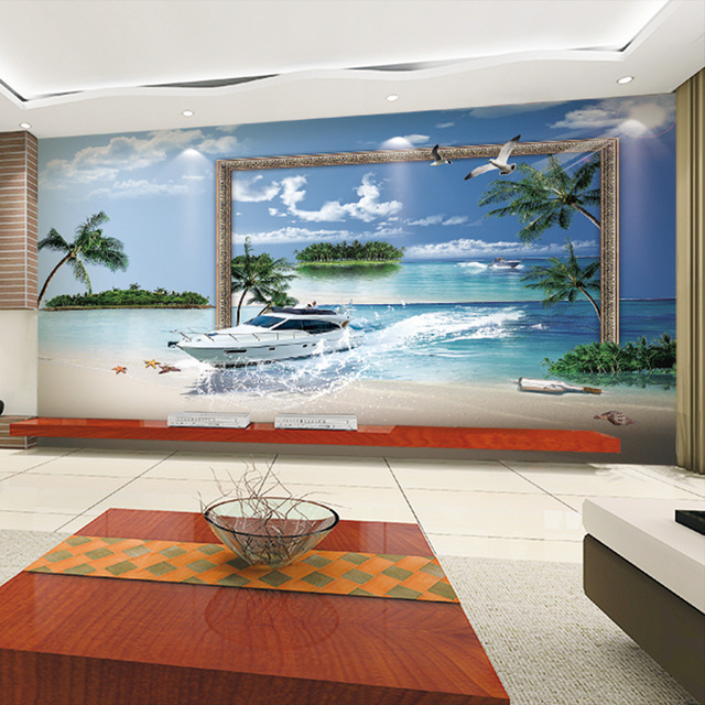 3D photo wallpaper Gabbiano Beach Paesaggio murales camera da ...