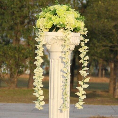 Свадебные композиция Диаметр Цветок свадебное оформление букета цветок для дорожного свинец римская колонна 4 шт./лот - Цвет: 3