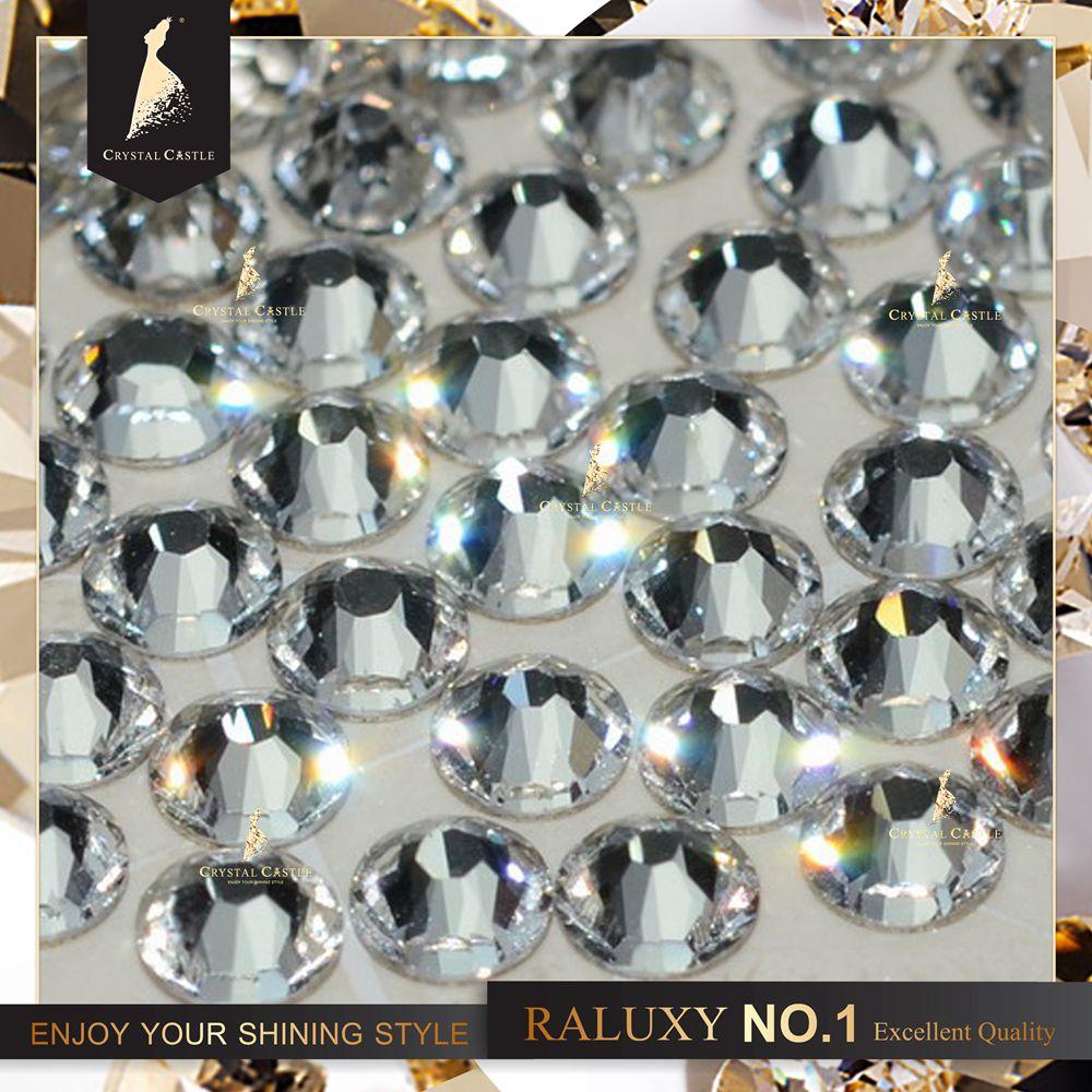 Crystal Castle vasaló SS16 4mm átlátszó kristály Hot fix Strass Stone No.1 Flatback ragasztó üveg strasszos gyorsjavítás menyasszonyi cipőhöz
