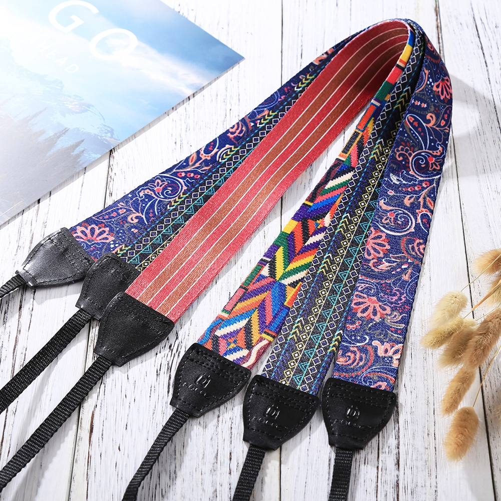 PULUZ rétro Style ethnique série multicolore bandoulière sangle de cou caméra sangle ceinture pour Sony, Canon, reflex/DSLR appareils photo universels