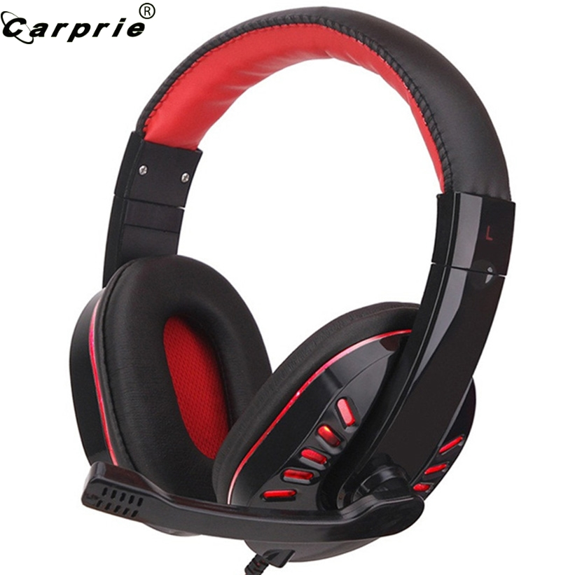 CARPRIE Headphones Wired Gaming Headphone Stereo Earphones with Mic for PS4/for XBOX /for ONE Gamer PC Laptop Phone 90107