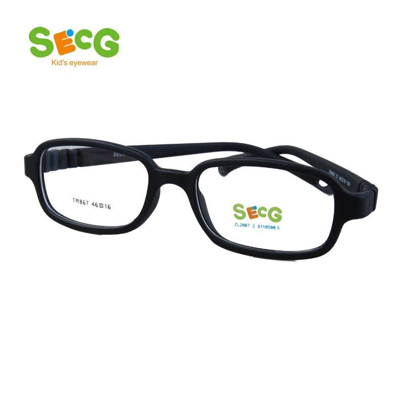 SECG Optical Computer Children Glasses Frame Plastic Titanium Resin Glasses Children Myopia Protective Kids Eyewear TR867