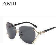 7f43ba39334b5c Mode Randloze Vierkante Zonnebril Voor Vrouwen Metalen Frame Luxe Merk  Zonnebril Vos Decoratie Gradient Eyewear oculos de sol