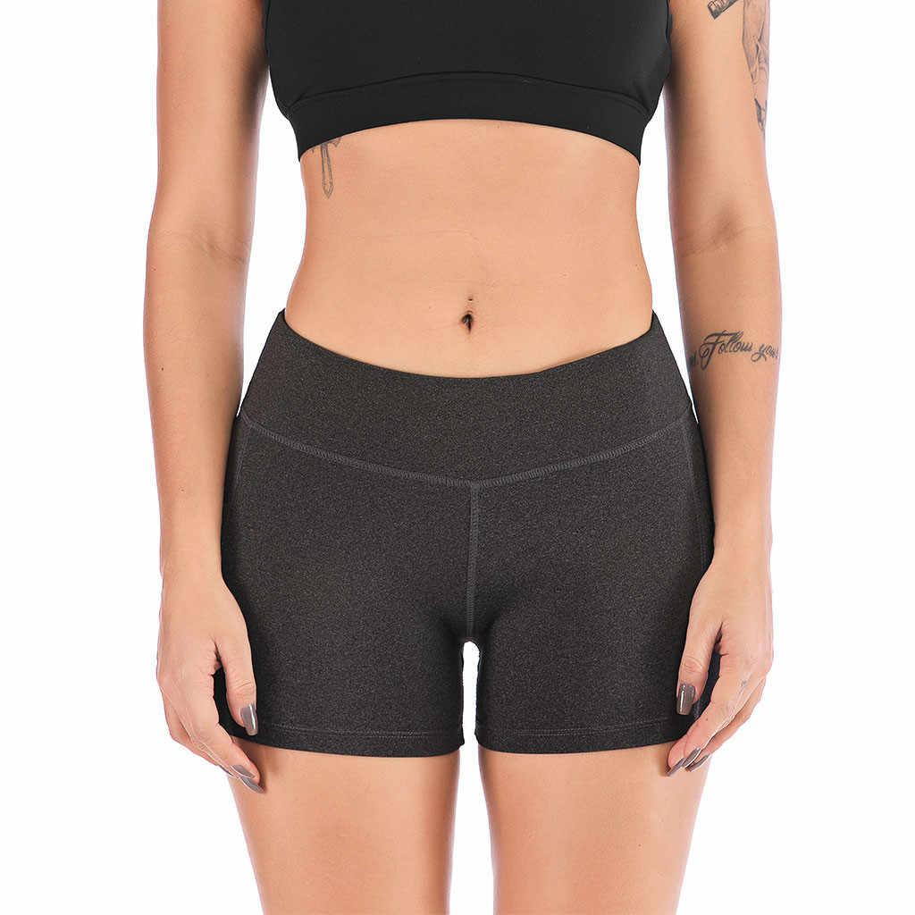 kurze hosen für frauen sicherheit shorts hohe elastische taille dünne  nahtlose feste unterwäsche mit taschen unter kleid oder röcke shorts