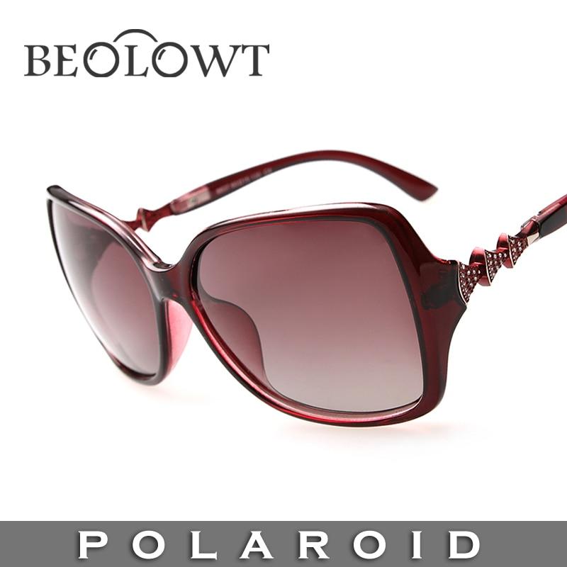 Marca de moda óculos de sol polaroid beolowt liga das mulheres dos homens  polarizados condução óculos de sol com caixa de caso 5 cores bl146 3ab421780f