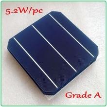 Grade A solar panel cell 156mm 3BB Monocrystalline Mono Solar Cell 6×6 5.2W/pc high efficiency DIY solar cell panel 250W 300W