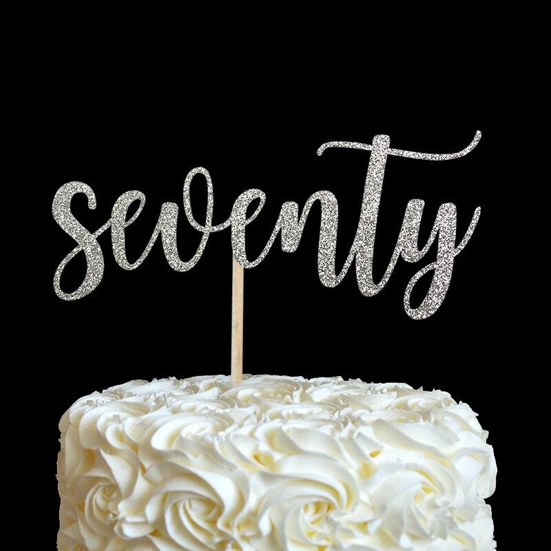 sedamdeset torta topper - mnoge boje glitter 70. rođendan dekor 70 - Za blagdane i zabave - Foto 2