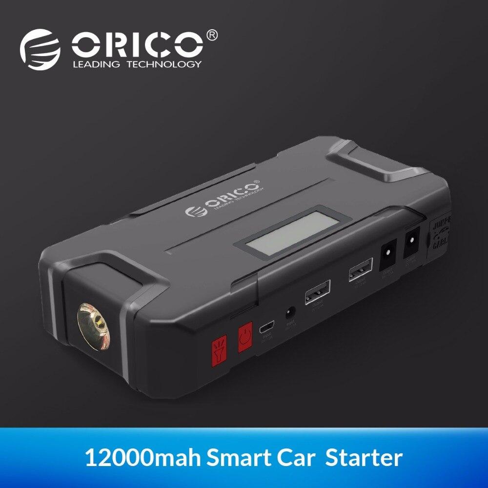 ORICO CS2 12000 mAh Mini Vehicel batterie externe batterie portable D'urgence Booster Buster batterie externe avec lampe de Poche pour Téléphone De Voiture