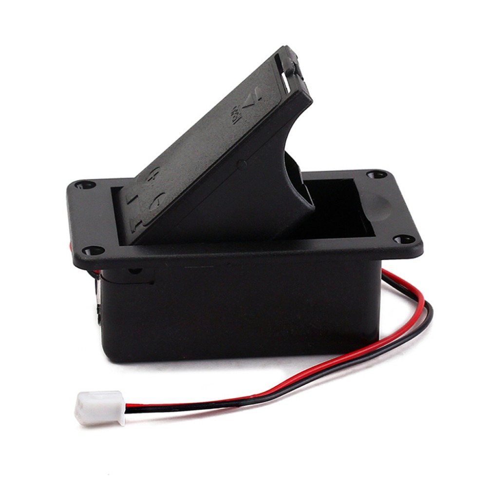 1PC 9V Battery Holder Case Box Cover For Guitar Bass Active Pickup Connector in Battery Storage Boxes from Consumer Electronics
