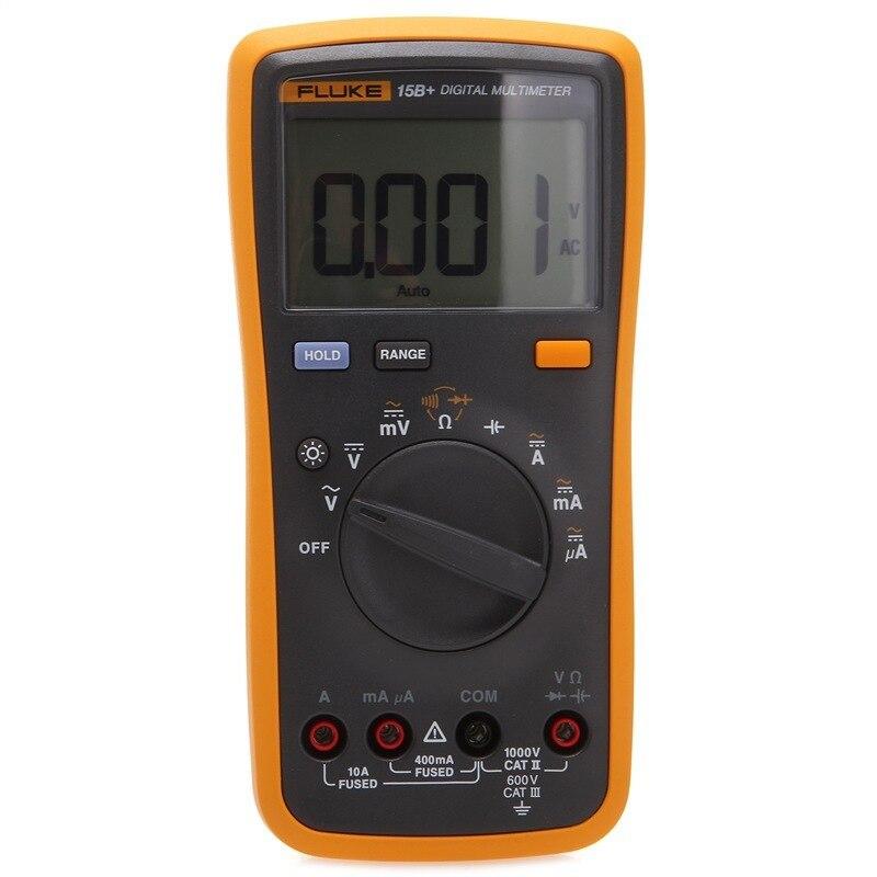 FLUKE 15B + F15B + Multimètre Numérique De Gamme Auto Testeur DMM avec TL75 cordons de mesure multifonction haute précision multimètre