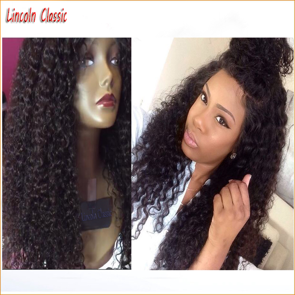 New 150 Density Curly Wig Full Lace Human font b Hair b font Wigs Kinky Curly