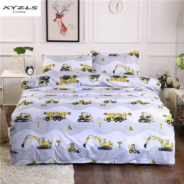 XYZLS дети мультфильм Постельное белье строительных машин постельное белье технических средств постельное белье Детский подарок на день рождения покрывала