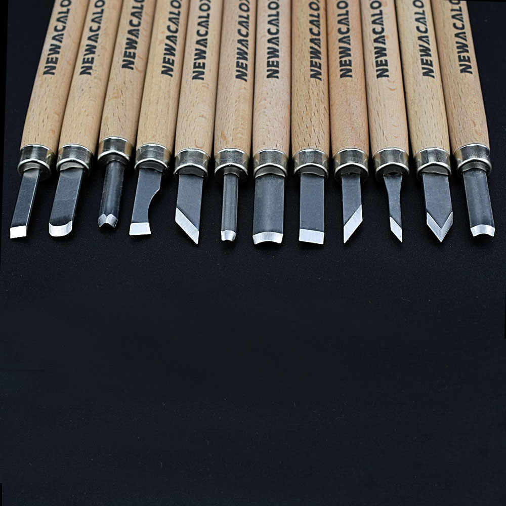 NEWACALOX 12 шт., инструмент для резьбы по дереву, инструмент для резьбы по дереву, хобби по дереву, искусство, ремесло, режущий гравер, скальпель, ручка DIY