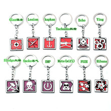 New Game Rainbow Six Siege Keychain alibi maestro finka abstract cartoon character pendant Chaveiro Anime Key Ring Holder цена и фото