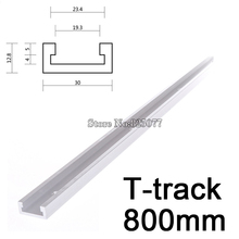 2PCS T-track length 800mm (31.5inch) T-slot Miter Track Jig Fixture Slot For Router Table Band Saw T-tracks KF918